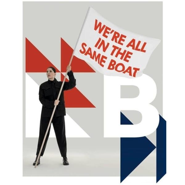 We're all in the same boat / Siamo tutti sulla stessa barca (Marina Abramovic)
